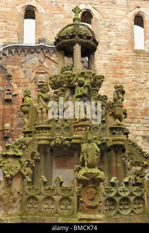 The King's Fountain at Linlithgow Palace, Scotland - Stock Photo