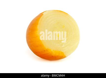 Sliced Onion on white - Stock Photo