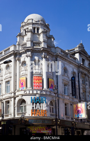 Hair Show The Gielgud Theatre Shaftesbury Avenue London UK - Stock Photo