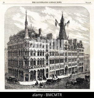New Exchange Building, Birmingham, 1865, opened by John Bright in January for the merchants of the fast growing - Stock Photo