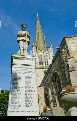 War memorial at All Saints Church in Laughton En Le Morthen, South Yorkshire - Stock Photo
