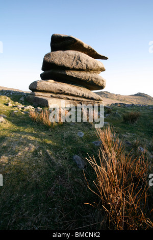 Showery Tor, Bodmin Moor, Cornwall, England - Stock Photo