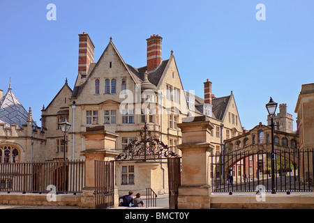 UK Oxford View Of Hertford College - Stock Photo