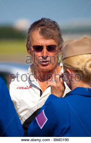 Sean D Tucker, one of the best aerobatic pilot in the world - Stock Photo
