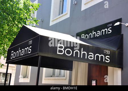 Bonhams Auctioneers, Montpelier Street, Knightsbridge, Royal Borough of Kensington and Chelsea, London, England, - Stock Photo