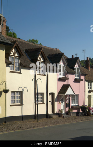 dunster village in somerset england uk - Stock Photo