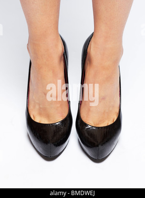 Girl wearing shoes - Stock Photo