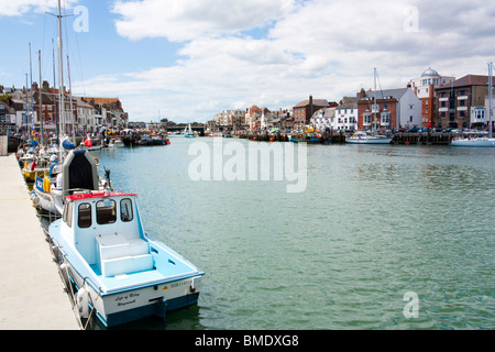 Weymouth harbour Dorset England UK - Stock Photo