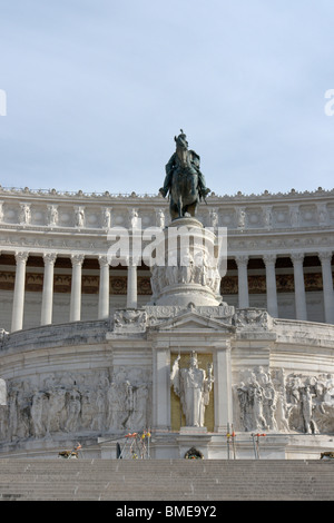 Rome, Italy. View of the central part of the Monument to Vittorio Emanuele II, also known as Vittoriano or Altare - Stock Photo