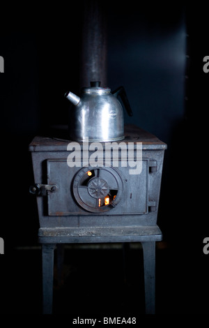 An old stove, Sweden. - Stock Photo