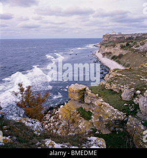 View of sea cliff - Stock Photo