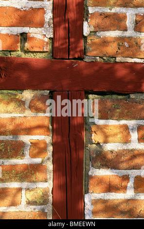 View of brick wall - Stock Photo