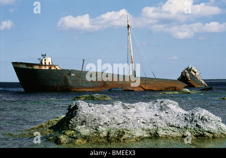 View of shipwreck - Stock Photo