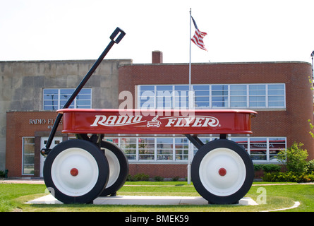 Giant Wagon at the Radio Flyer headquarters in Elmwood Park Illinois - Stock Photo