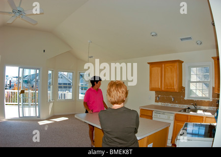 Ocean CIty, New Jersey, USA, Holiday Rentals Family Guest House - Stock Photo