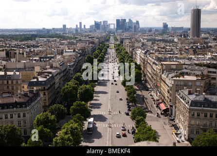 CITYSCAPE FROM THE ARC OF TRIOMPHE PARIS, FRANCE - Stock Photo