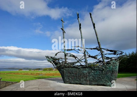National Famine Memorial, Murrisk, County Mayo, Province of Connacht, Ireland - Stock Photo