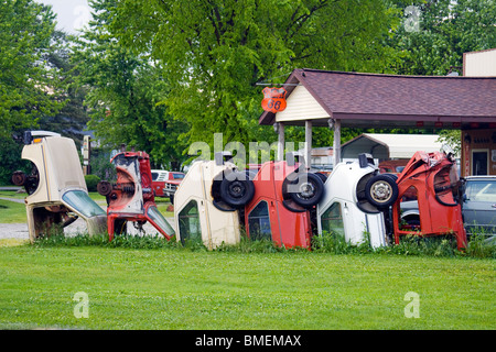 Henry's Ra66it Ranch on old Route 66 in Staunton Illinois - Stock Photo