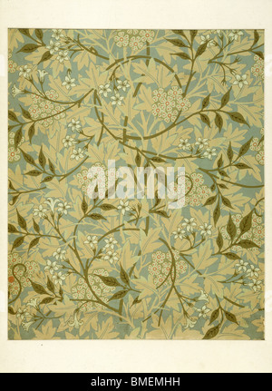 Jasmine wallpaper, by William Morris. England, late 19th century - Stock Photo