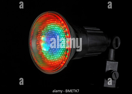 Lit LED (Light Emitting Diode) Spotlight on black background - Stock Photo