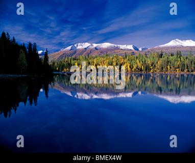 Kanas Lake, Burqin County, Altay Prefecture, Xinjiang Uyghur Autonomous Region, China - Stock Photo