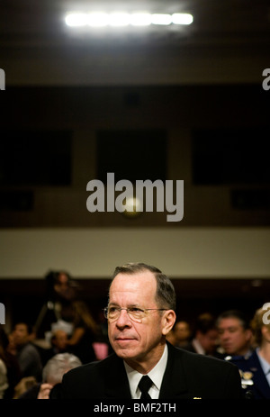 Chairman of the Joint Chiefs of Staff Admiral Michael Mullen - Stock Photo