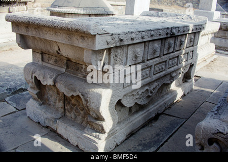 View of the statue, Tomb Of Eunuch Tian Yi, Beijing, China - Stock Photo