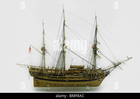 Scale model of the 'Atalanta' Lightly armed Sheerness 1776 - Stock Photo