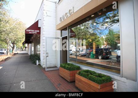 Main Street, East Hampton, The Hamptons, Long Island, New York, USA - Stock Photo