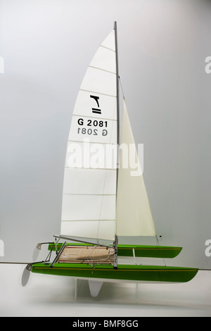 Maquette of a 470er Tornado racing Sailboat - Stock Photo