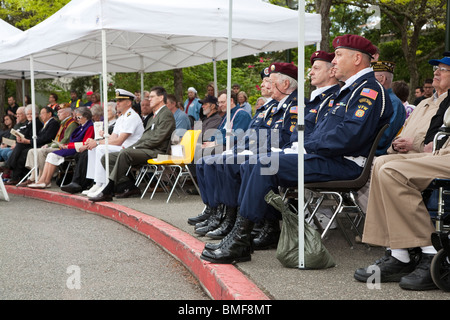 A Day of Remembrance - Memorial Day 2010. Ceremony on May 27, 2010 to honor soldiers who have died while in military - Stock Photo