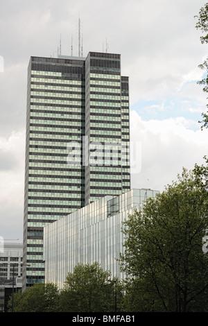 Office blocks on Euston Road, London, England, UK - Stock Photo