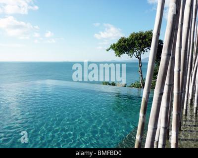 Pool in Koh Samui, Thailand - Stock Photo