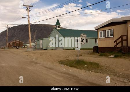 Pangnirtung, Baffin Island, Nunavut, Canada - Stock Photo