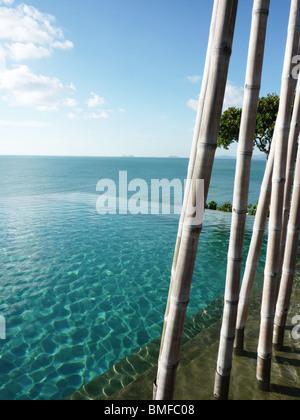 The pool at the Six Senses, Koh Samui - Stock Photo