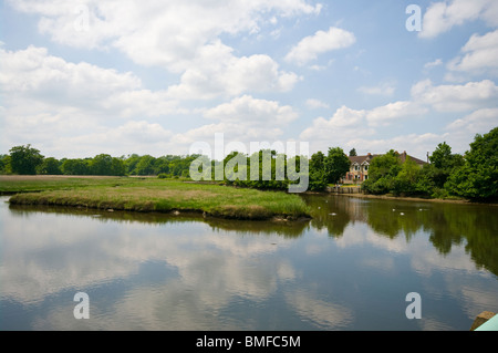 Bartley Water Eling The New Forest Hampshire England - Stock Photo
