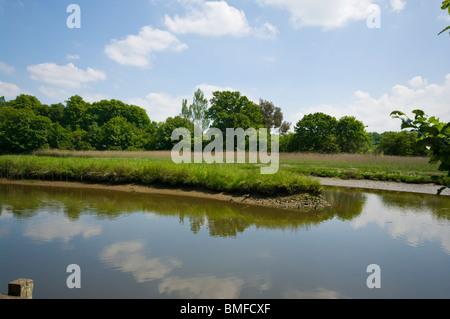 Bartley Water Eling Hampshire England - Stock Photo