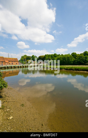 Bartley Water and The Toll Bridge Eling Hampshire England - Stock Photo