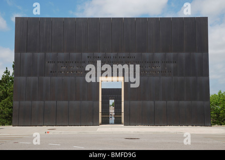 The entrance to the 9:01 Gate of the Oklahoma City National Memorial. - Stock Photo