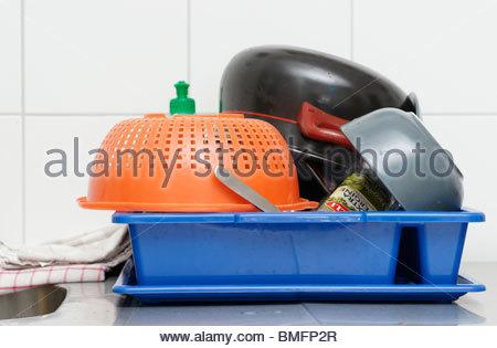 Washed dishes - Stock Photo