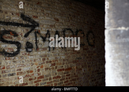 S. Marco written on a wall in Venice, Italy - Stock Photo