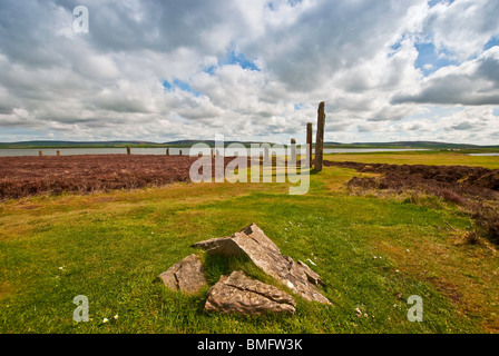 The Ancient Neolithic Ring of Brodgar in Orkney, Scotland - Stock Photo