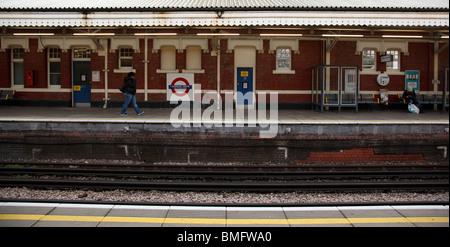 Ladbroke Grove subway station in London - Stock Photo