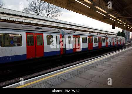 Ladbroke Grove subway station in London - Stock Photo