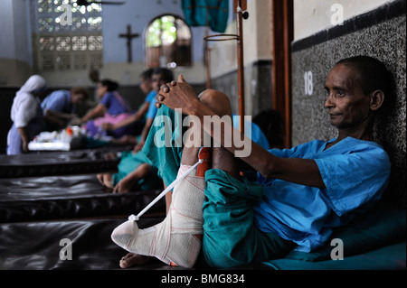 India Kolkata Calcutta, Nirmal Hriday - pure hearts- hospice house for poor people and the dying at Kali temple - Stock Photo