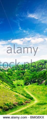 Devil's Dyke landscape countryside - west sussex uk - Stock Photo