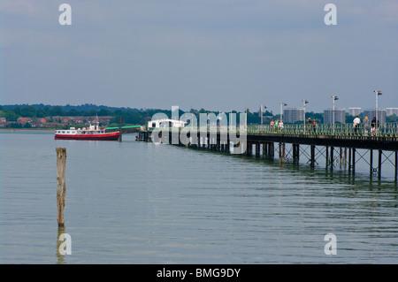 The Hythe To Southampton Ferry Pier Southampton Water Hythe Hampshire England - Stock Photo