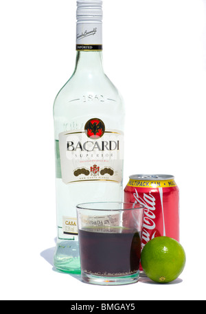Bacardi stock photo royalty free image 34857113 alamy for White rum with coke