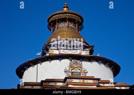 Gyantse Kumbum at Pelkor Chode Monastery in Gyantse, Tibet - Stock Photo