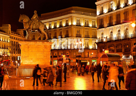 Puerta del Sol, Madrid, Spain - Stock Photo